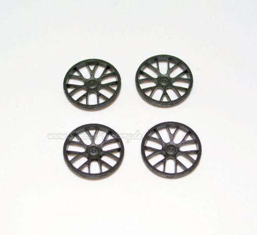 19,1 mm Felgeneinsatz BBS GT3 (Satz vo. + hi.) schwarz