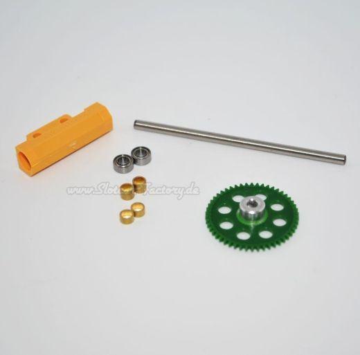 Hinterachshalter Set m. Kunststoffspurzahnrad Z50
