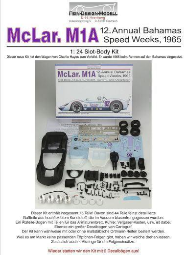 McLaren M1A Karosserie Bausatz Fein Design