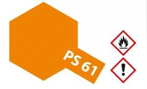PS-61  Metallic Orange f�r Polycarbonat 100 ml